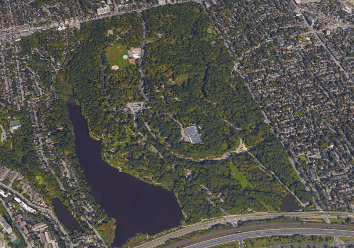 Google Map Aerial View of High Park (2018)